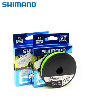 Dây PE Shimano Kairiki X8 - cuộn 150m - Made in Japan