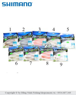 Mồi mềm Shimano Squidgies BioTouch - 10cm - 6gr - Made in Japan