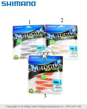 Mồi mềm Shimano Squidgies BioTouch - 7.5cm - 3.5gr - Made in Japan