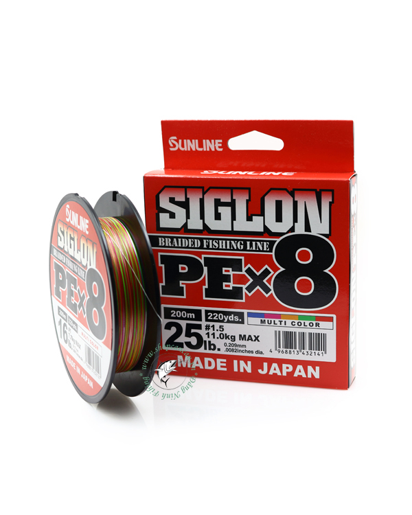 Dù câu/PE/Braied Sunline SigLon  x8  - cuộn 200m - Made in Japan