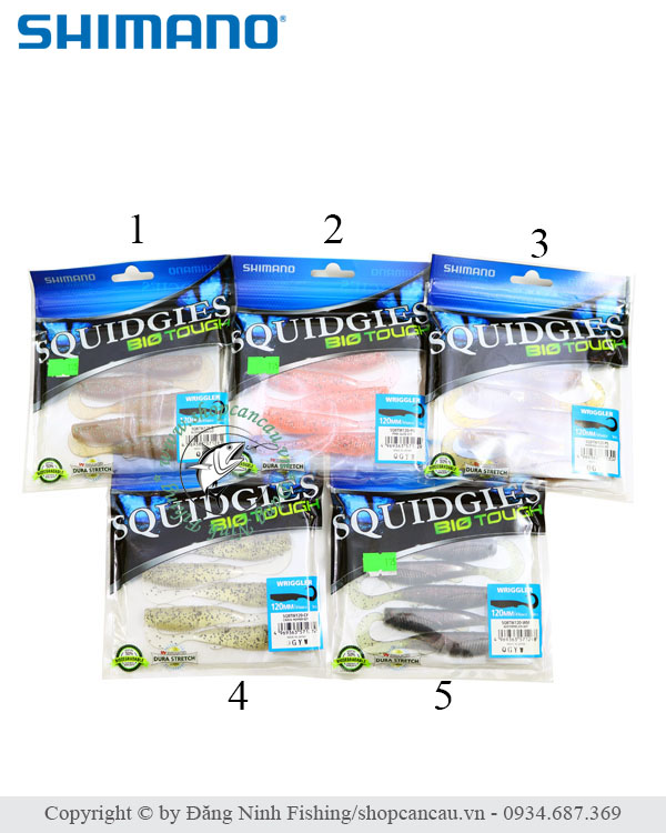 Mồi mềm Shimano Squidgies BioTouch - 12cm - 8gr - Made in Japan